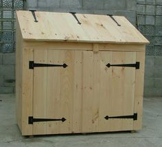 2'x4' Utility Shed   Originally designed for garbage can storage, it is an ideal lean-to utility shed for all kinds of storage - with easy access - top to bottom!