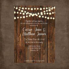 Printable Wedding Invitations Chalkboard Wedding by MakeSpecially