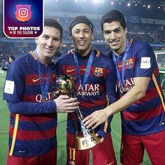 The best photos from the 2015-16 season #FCBarcelona #Football #FCB #FansFCB #Messi #Neymar #Suarez