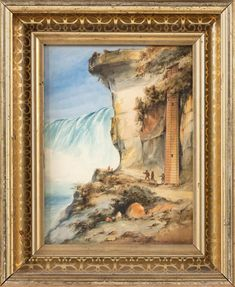 Bid now on Invaluable: GEORGE LORING BROWN (Massachusetts/New Hampshire, 1814-1889), Niagara Falls., Watercolor, 11 New Hampshire, American Artists, Massachusetts, Niagara Falls, Mystic, Watercolor, Gallery, Brown, Label