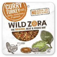 Snack on the go! Gluten free, Soy free, Dairy free, Grain-Free, Whole30 Approved Paleo Friendly Curry Turkey Jerky From Wild Zora | Made in Colorado | 15% off with code USALOVELIST