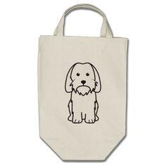 Petit Basset Griffon Vendeen Dog Cartoon Tote Bag