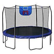Cheap Trampoline With Basketball Hoop | Skywalker Trampolines Jump N' Dunk Trampoline with Safety Enclosure and Basketball Hoop, Blue, 12-Feet