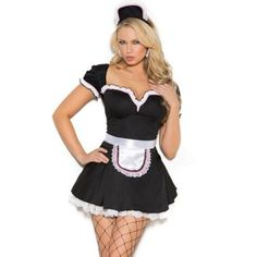 Tip for sexy halloween costume. Surprise in fabulous costume as french Maid. Catchy costume in black and white color features: minidress, apron and head piece. Find hot fishnets in our store to complete sexy outfit. Available also in plus size. Maid Halloween, Sexy Halloween Costumes, Adult Costumes, Halloween Ideas, Women Halloween, Funny Halloween, Woman Costumes, Pirate Costumes, Couple Costumes