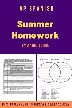 Spanish Homework for Incoming AP Spanish Students