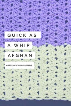 This crochet afghan pattern works up so quickly.