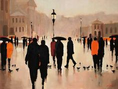 Where We Once Walked by Lorraine Christie Painting Print on Wrapped Canvas