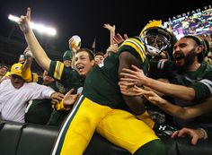 Sep 20, 2015; Green Bay, WI, USA; Green Bay Packers wide receiver James Jones (89) takes the Lambeau Leap after scoring a 29-yard touchdown against the Seattle Seahawks during the first quarter at Lambeau Field. packers won27-17.  (3000×2201)