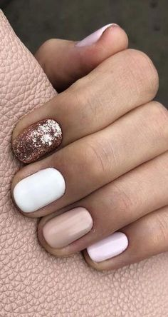 25 Amazing Short Nail Art Designs for Winter to Spring Short nails with square or oval tips will look beautiful with attractive colors and designs. In winter and spring, you can have the same nail look. It will save your time to get amazing nail art. Short Gel Nails, Short Nails Art, Short Nail Manicure, Cute Short Nails, Simple Gel Nails, Cute Simple Nails, Cute Acrylic Nails, Acrylic Nail Designs, Cute Nail Art Designs