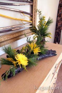 Driftwood planters.
