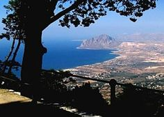 View from Erice to the coast of San Vito Lo Capo  Sicily - Sicilia