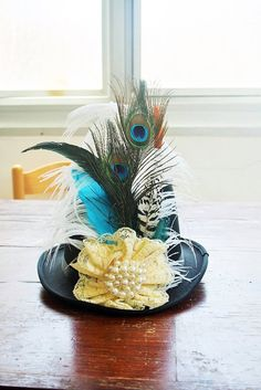 Hey, I found this really awesome Etsy listing at https://www.etsy.com/listing/231552601/top-hat-royal-with-big-white-flower-and