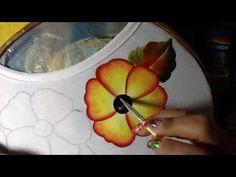 Pintura en tela flor del higo #4 con cony - YouTube