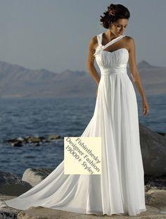 Empire Halter Court Trains Sleeveless Chiffon Beach Wedding Dress For Bridesmaids in champagne
