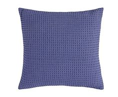 Cojín de algodón Abeja, azul - 60x60 cm