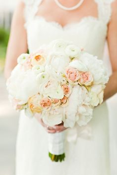A lush blush and white bouquet. Gallery & Inspiration | Collection - 166 - Style Me Pretty