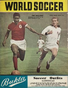 World Soccer magazine in August 1963 featuring the European Cup Final on the cover.