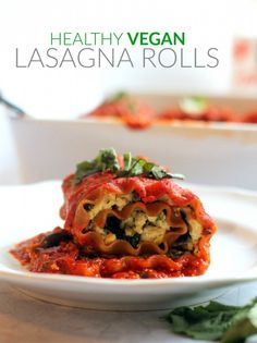 Vegan Summer Vegetable Lasagna Rolls...you'd never guess these were dairy-free! Even BETTER than the original. Creamy, delicious, and carnivore-friendly!