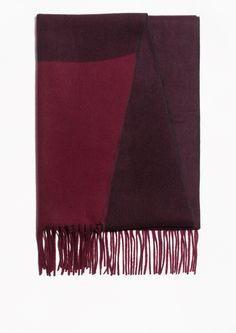 & Other Stories   Two Tone Wool Blanket Scarf