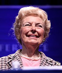 Phyllis McAlpin Stewart Schlafly B.1924-Lawyer,Political Activist, Author,Speaker,Founder of the Eagle Forum