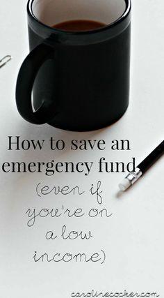 Saving up an emergency fund