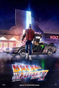 """"""" Another Key Art made by me, Allan and Reinaldo, this time a """"Back to the Future"""" one. I was responsible for Marty McFly and it took me about a week to finish it. I did a small breakdown of my process used for this one New Retro Wave, Retro Waves, Ps Wallpaper, Future Wallpaper, Nave Star Wars, Bttf, Marty Mcfly, Ready Player One, Keys Art"""