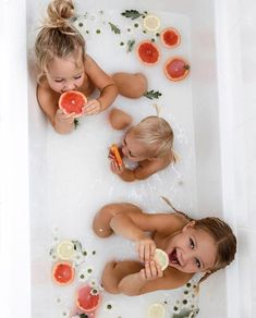 Some days you just need a good milk bath filled with citrus and flowers right? Do you have a wellness routine for your family? We want to know any tips you have for keeping your family healthy & happy (other than coming to yoga of course ) Cute Family, Baby Family, Family Goals, Family Pics, Family Yoga, Milk Bath Photography, Children Photography, Newborn Photography, Cute Babies Photography