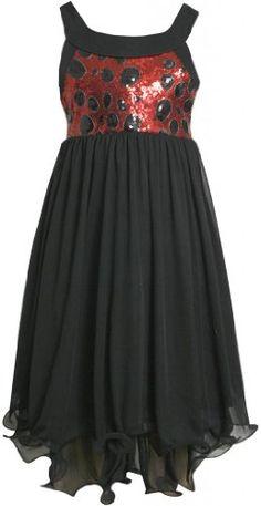 Black Red Sequin and Chiffon Hi-Lo Wire Hem Dress BK4MH Bonnie Jean Tween Girls Special Occasion Flower Girl Holiday BNJ Social Dress, Black Bonnie Jean,http://www.amazon.com/dp/B00FA3004S/ref=cm_sw_r_pi_dp_Tliqsb1K0MRPGK58