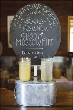 signature wedding drinks @weddingchicks