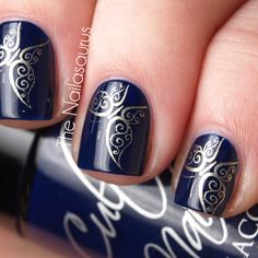 "Here's Cult Nails ""Time Traveller"", the perfect TARDIS blue polish"