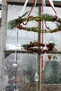 Very Rustic. Could be so pretty hanging from the right light inside or outside in front of a window.