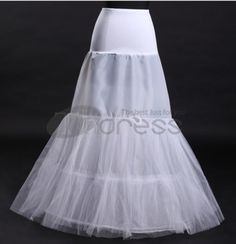 White fishtail wedding petticoat