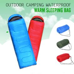 Cheap Price Splicing Envelope Sleeping Bag Ultralight Adult Portable Outdoor Camping Hiking Sleeping Bags Spring Autumn 1.8*0.75m Strong Resistance To Heat And Hard Wearing Camp Sleeping Gear