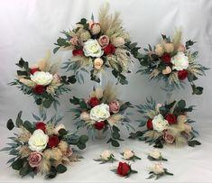 Peach Flowers, Flower Bouquet Wedding, Dusty Pink, Floral Wreath, Wreaths, Bridal, Red, Dusty Rose, Flower Crowns