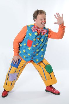 Getting freaked out when a normal guy turned into Mr Tumble