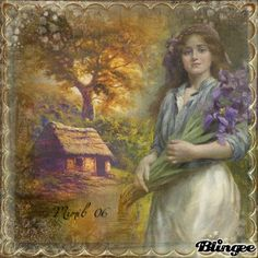 vintage lady in nature