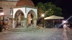 Tarihi caminin minaresi depremde yıkıldı