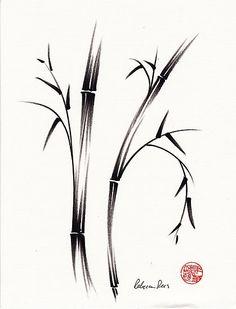 Japanese Bamboo Drawings | Japanese Bamboo Drawings Bamboo drawing/painting