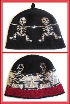 "STUART ladderback jacquard gallery, part 1: Skeleton hat ""Round Dance"" | TECHknitting™ | Bloglovin'"