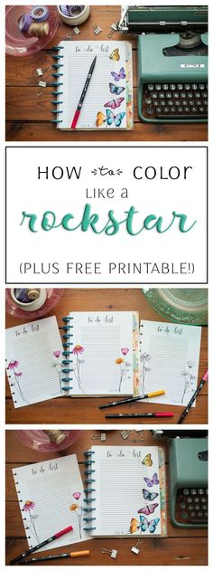 How to Color like a Rockstar! (Plus Free Happy Planner Printable) #happyplanner