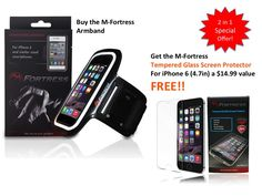 Special Offer: Buy the M-Fortress Armband and get the M-Fortress Tempered Glass Screen Protector ($14.99 value) absolutely FREE!! Offer lasts as long as stock lasts.