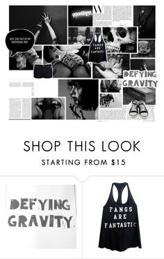 """""""~defying gravity"""" by vampires-bridesmaid ❤ liked on Polyvore featuring Morgan, Wildfox and Converse"""