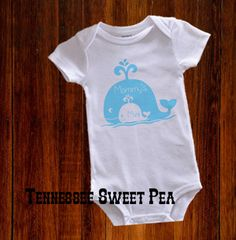 Mommy & Me, Mommy's Mini Me, Mini Me, 1st Mother's Day Bodysuit, Whale Bodysuit, Mother's Day, Boy's Bodysuit by TennesseeSweetPea on Etsy
