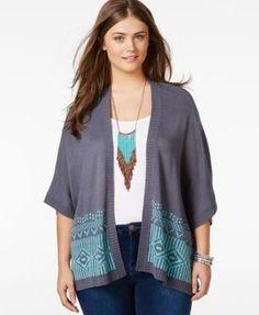 09f936e372924 Plus Size Short-Sleeve Cardigan Kimono Cardigan, Short Sleeve Cardigan,  Short Sleeves,