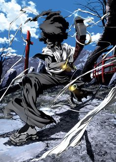 Afro Samurai, one of the best animes I've watc… – – Samurai Champloo Afro Samurai, Samurai Jack, Samurai Anime, Manga Anime, Comic Manga, Manga Art, Comic Art, Anime Art, Pokemon Tattoo
