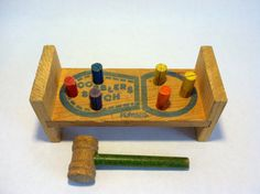 Wooden Playskool Cobbler's Bench --- work is never done, turn it over and start again.