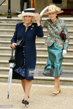 Camilla, Duchess of Cornwall and Princess Alexandra hold on to their... News Photo   Getty Images