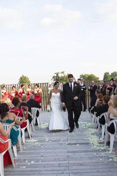 September Wedding Ceremony on the South Deck (Brewery Ballroom)
