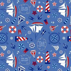 pictures of red white and blue nautical baby quilts | Layer Cake Smooth Sailing Stack Quilt Fabric Nautical Sailboat Fabric