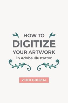 In this tutorial I'm going to show you how to turn a simple hand-drawn illustration into a vector using Adobe Illustrator. In this tutorial I'm going to show you how to turn a simple hand-drawn illustration into a vector using Adobe Illustrator. Graphisches Design, Design Floral, Graphic Design Tutorials, Tool Design, Graphic Design Inspiration, How To Design, In Design Tutorial, Design Trends, Design Patterns